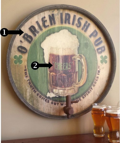 Irish Pub Personalized Wood Barrel End Bar Sign