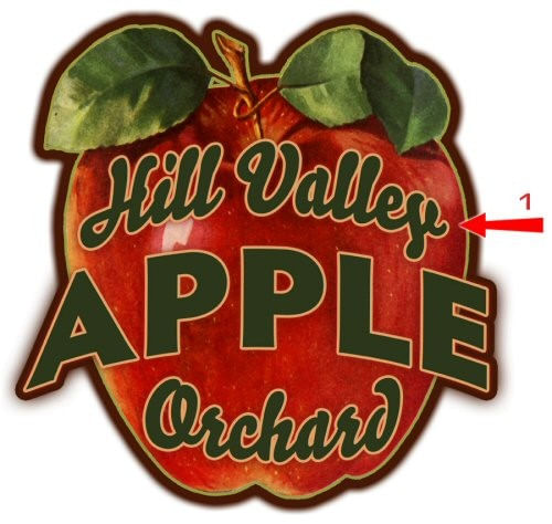 Apple Orchard Cut Up Personalized Sign