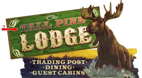 Moose Lodge Cut Up Personalized Sign