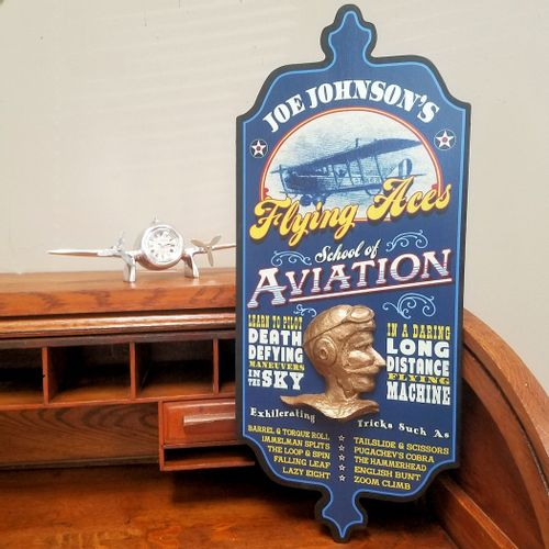 Flying Aces Personalized Pub Sign
