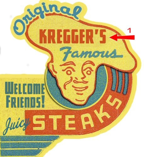 Famous Steaks Cut Up Personalized Sign