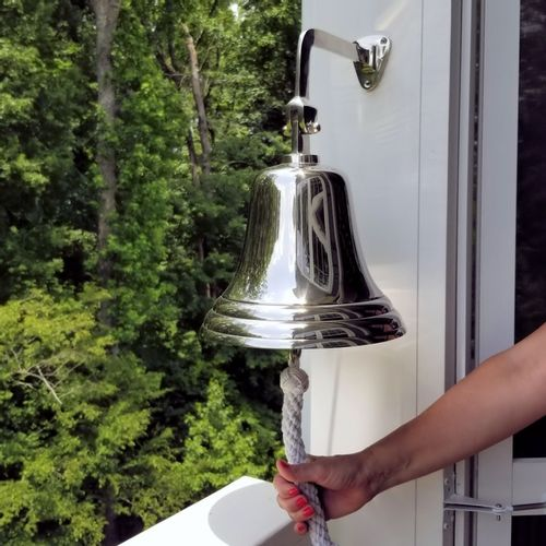 10 Inch Nickel Wall Bell Second