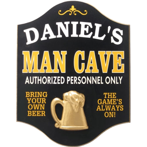 Wood Man Cave Personalized Sign