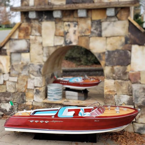 "Large 68"" Riva Aquarama Wood Model Boat"