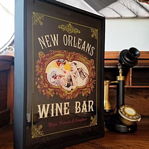 Personalized Vintage Style Wine Bar Cork Catcher