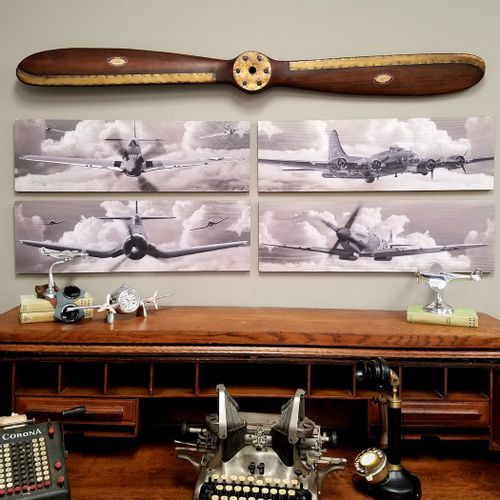 "Fantastic Four ""Out of the Clouds"" WW2 Warplane Set"