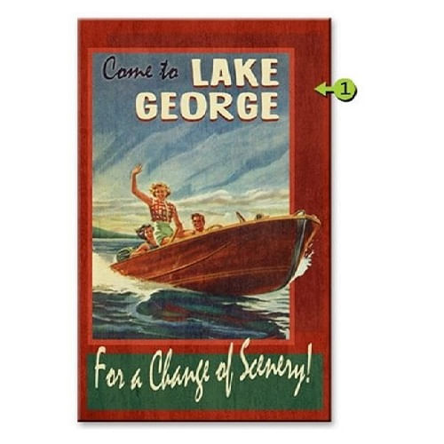 Change of Scenery Personalized Boating Sign