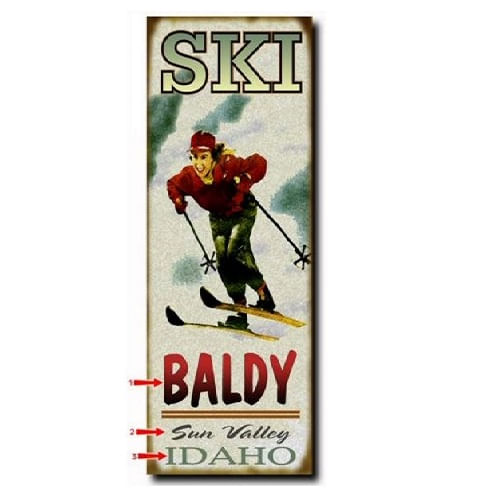 Woman-Skiing-Personalized-Cabin-or-Chalet-Sign-3323-3