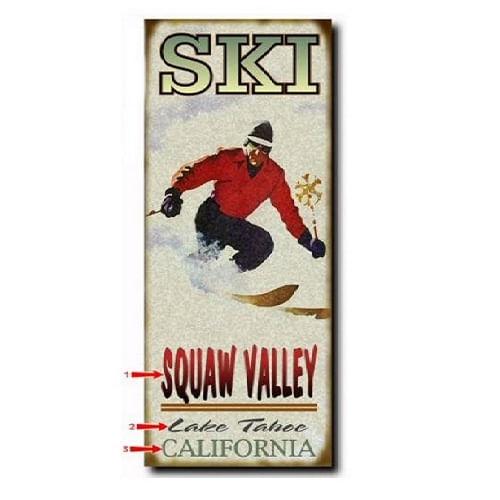 Ski--Man--Wood-or-Metal-Personalized-Sign-3044-3