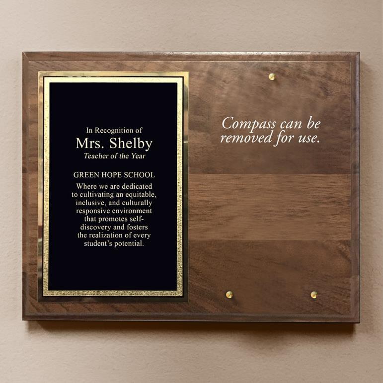 Teacher-Compass-On-Personalized-Plaque-11432-3