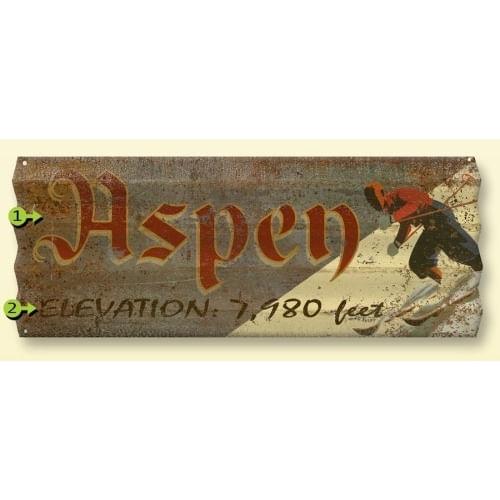 Corrugated-Metal-Personalized-Ski-Sign-11136-3
