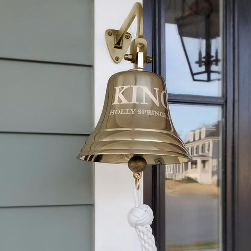 7 Inch Brass Engravable Wall Bell - 5 pounds