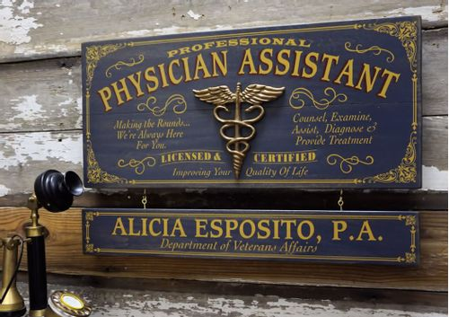 Physician Assistant Wood Sign with Optional Personalization