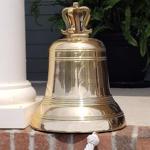 14 Inch Brass Mission or Church Bell - 51 pounds