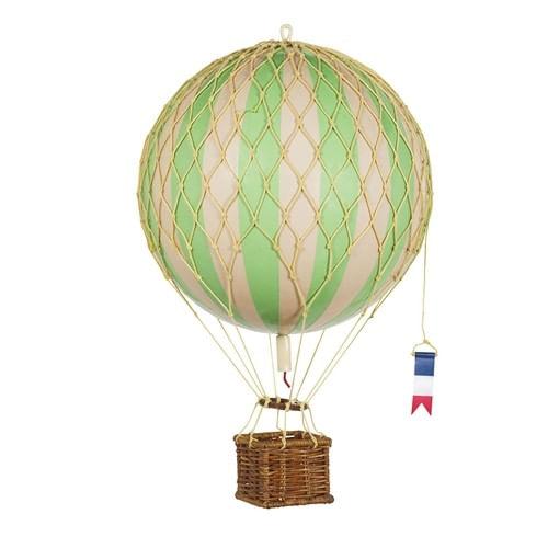 Green Striped Hot Air Balloon