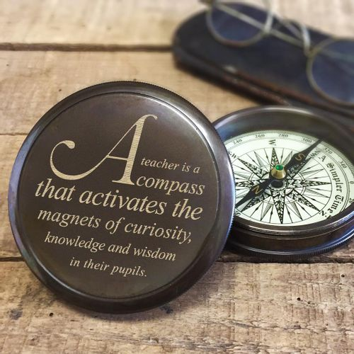 Brass Teacher Compass