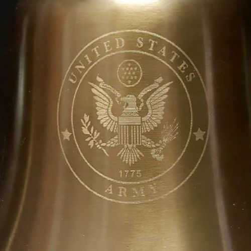 Army Logo Engraved Bell - 7 Inch -Military