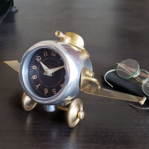 Thunderbolt Airplane Desk Clock
