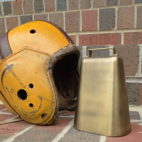 Antiqued Brass Deluxe Cow Bell - Second