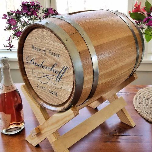 5 Gallon Personalized Script Wedding Barrel