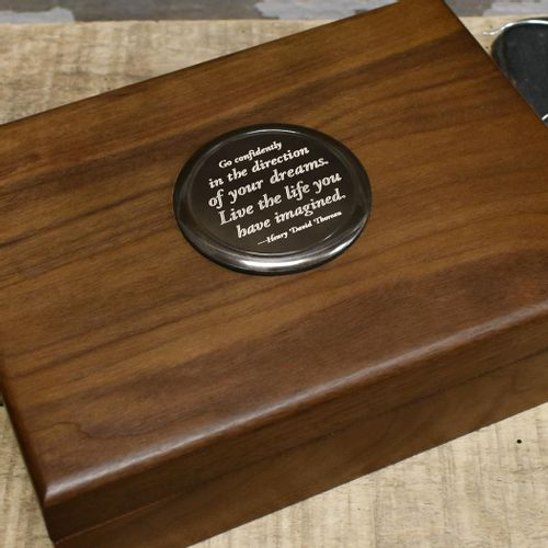 Thoreau Deluxe Keepsake Box With Personalized Engraving
