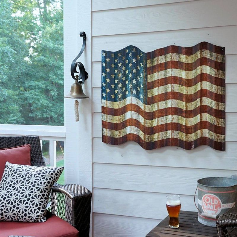 Cut-Out-Corrugated-Metal-American-Flag-Sign-7972