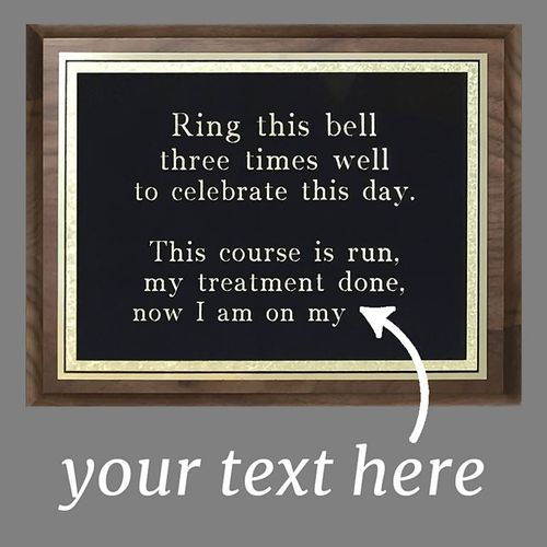 Large Engraved Wall Plaque