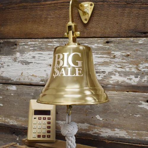 Engraved Big Sale Brass Wall Bell