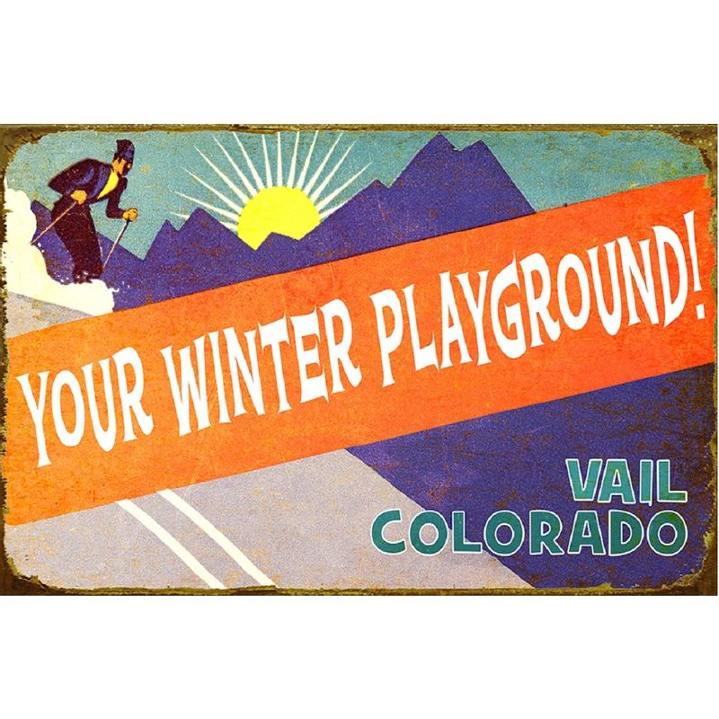 Retro-Winter-Playground-Personalized-Wood-or-Metal-Sign-13954-5