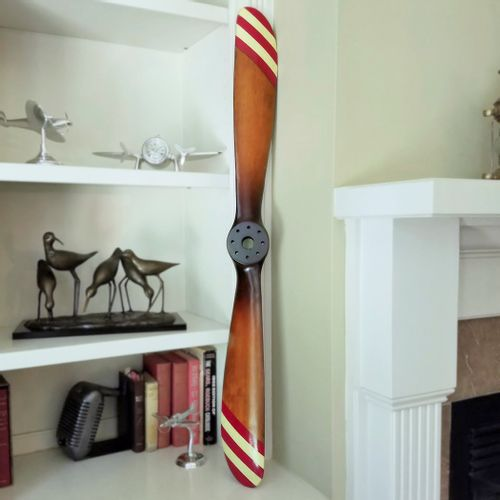 46in Retro Red and White Striped Barnstormer Propeller