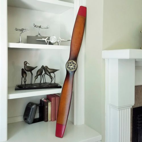 47in Small Red Tip Vintage Propeller Replica