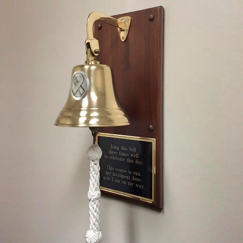 Cancer Medallion Plaque Bell - Polished