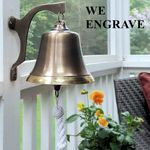 7-Inch-Two-Toned-Brass-Engravable-Wall-Bell---4-5-pounds-8188
