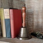 Large-Brass-Hand-Bell---11-Inch-Tall---Antiqued-9765-5