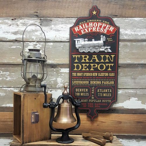 Train Depot Personalized Sign