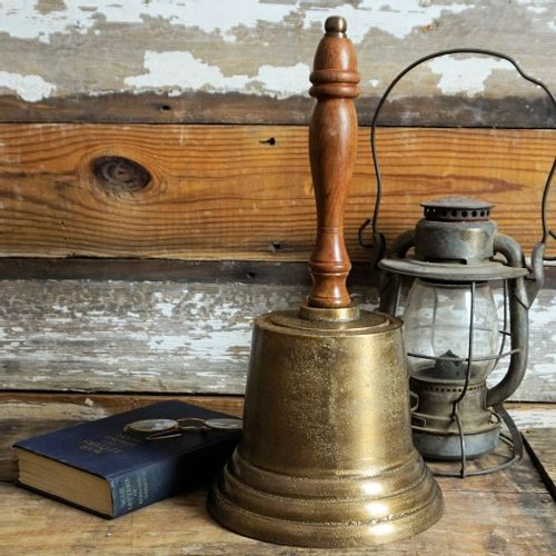 Giant Distressed Hand Bell
