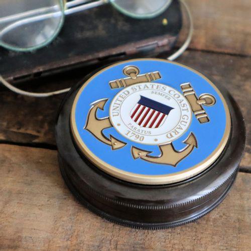 Coast Guard Colored Medallion Compass