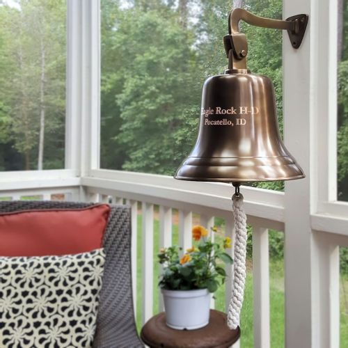Pre-Order 12 Inch Antiqued Brass Wall Bell
