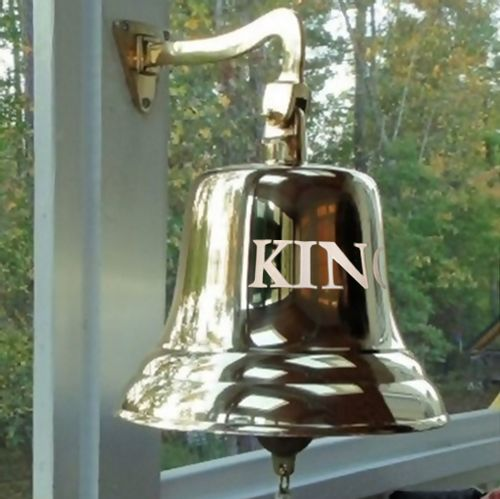 12 Inch Polished Brass Wall Bell