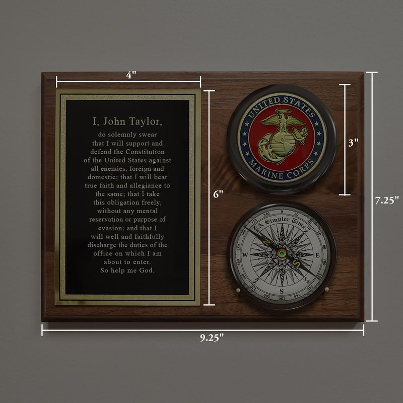 COLOR_MARINES_COMPASS_PLAQUE_DIMENSIONS_NOT_ETSY