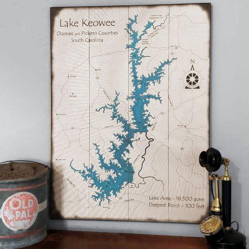 Choose Your Lake Map Art
