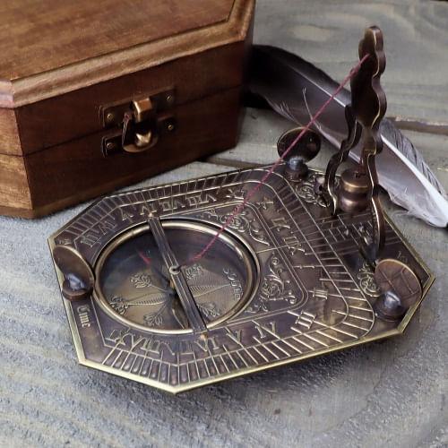 Brass Pendulum Sundial Compass