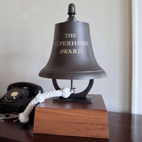 Large Deluxe Dark Bronze Memorial Bell
