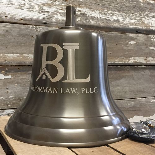 Pre-Order 14 Inch Antiqued Brass Wall Bell