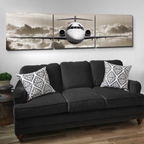 DC-9 Wooden Triptych